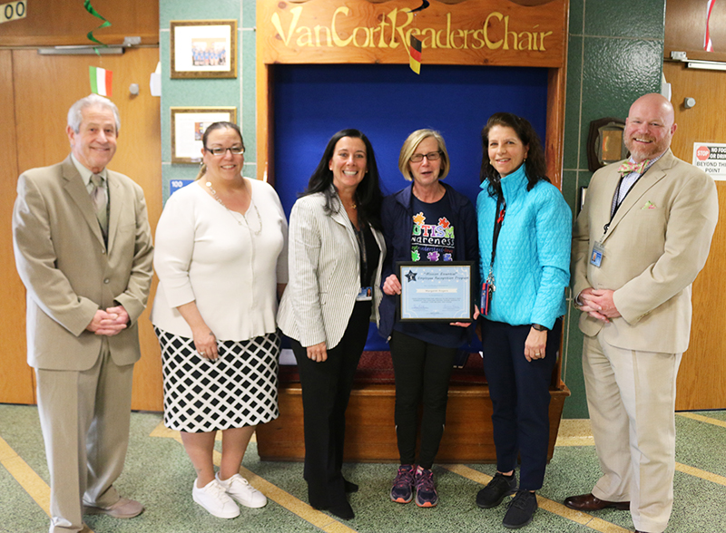 Dr. Margaret Rogers, the district's long-time physical therapist, is the thirdrecipient of the Lakeland Central School District's Mission EssentialRecognition Award.