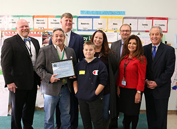 Leslie Portnoy, a Math AIS Teacher at Benjamin Franklin Elementary School, is the October 2019 of the Lakeland Central School District's Mission Essential Recognition Award.