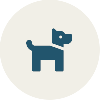 blue icon of a dog