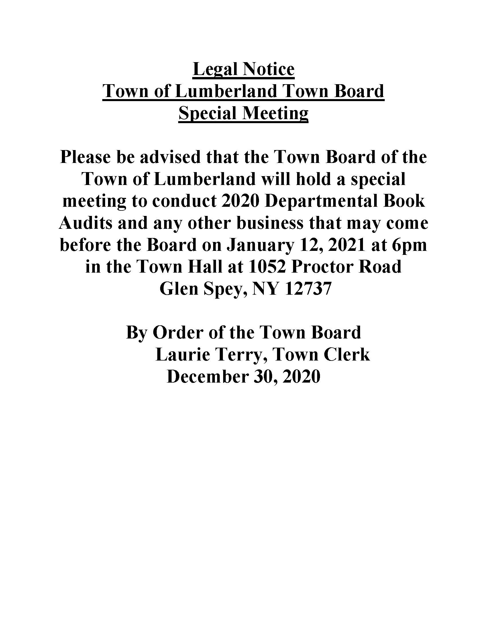 Legal Notice - Book Audit 2020