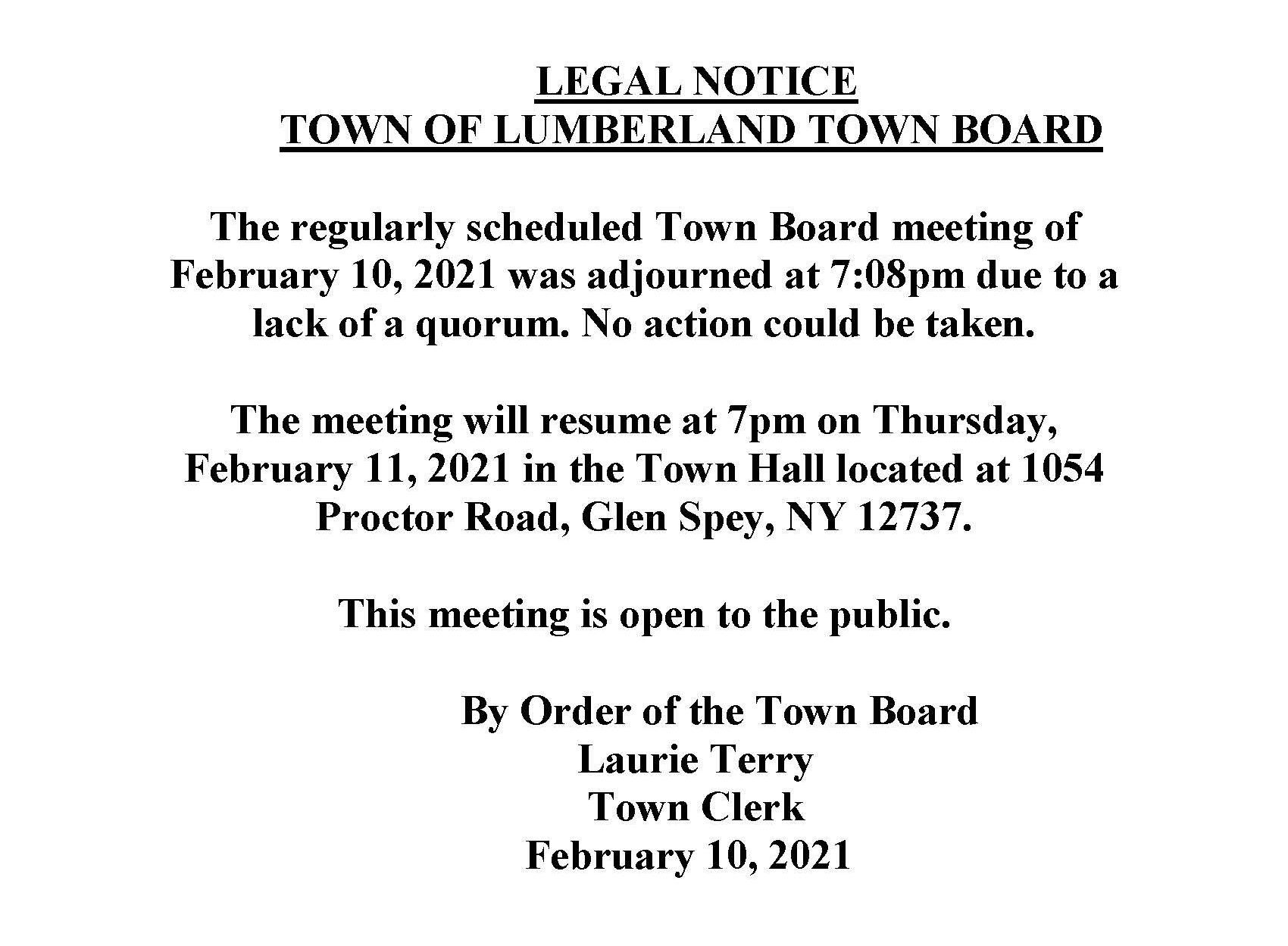 Notice of adjourned meeting - Copy