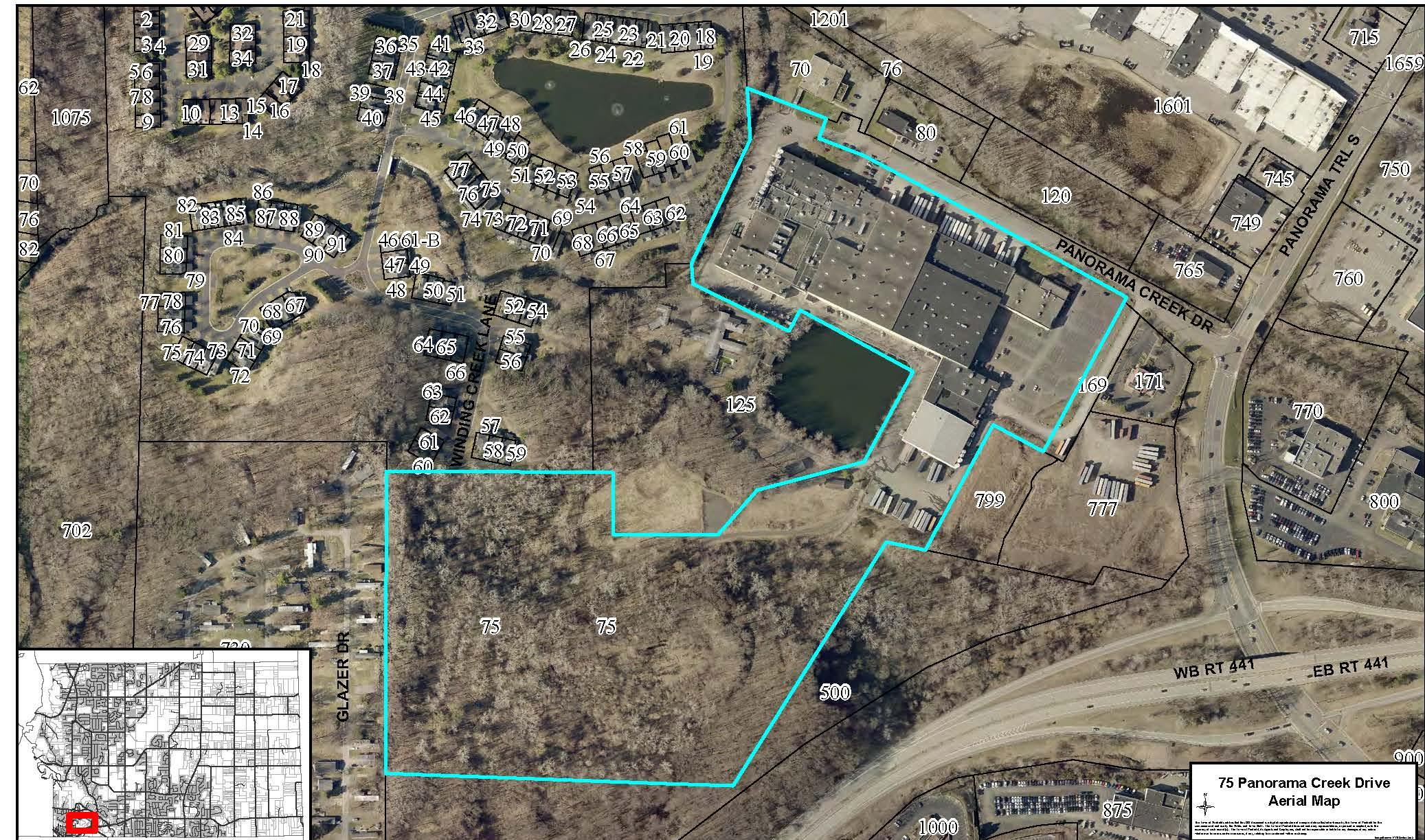 Application - 21Z-0008- 75 Panorama Creek Drive aerial - Copy
