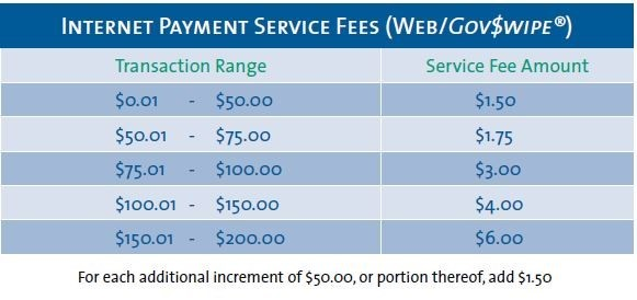 internet payment fee